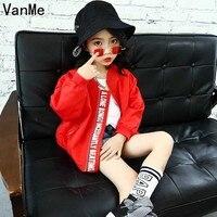 Mannp 2018 Fashion Kids Spring Korean Style Baseball Uniform Jacket For Girls Personality Letter Coat Outerwear
