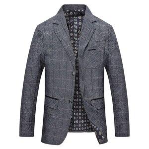 Image 3 - Mwxsd brand Mens Plaid Wool Blazer jacket Men Fashion Slim fit suit  jacket homme Casual male blazer Suit Jacket masculino