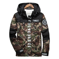 2017 New Spring Men Brand Clothing 3m Reflective Jacket Casual Camouflage Male Windbreaker Zipper Hooded Bomber