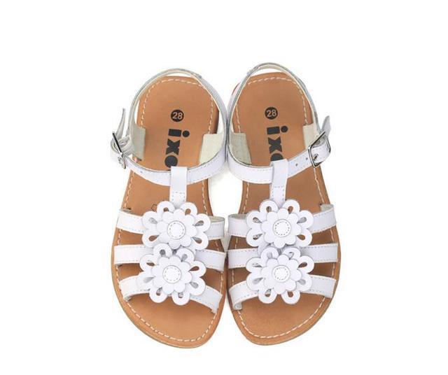 KSL1165262 Retail 2016 Nueva Niña de Moda de Verano Sandalias de La Flor Plana Sólida Con Muscular Niño Sandalias Zapatos de La Muchacha Lolital