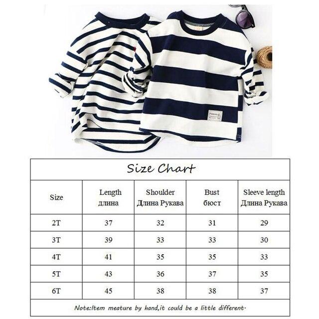 Boys Spring Hoodies Children Cotton Long Sleeve Sweatshirt Striped Casual Pullover Kids Boy Clothing Fashion O-Neck Sweatshirts 6