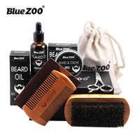 7pcs/set Beard Care Set Beard Oil Kit with Beard wax, Brush, Comb, Scissors Grooming & Trimming Kit Male Beard Care for Men