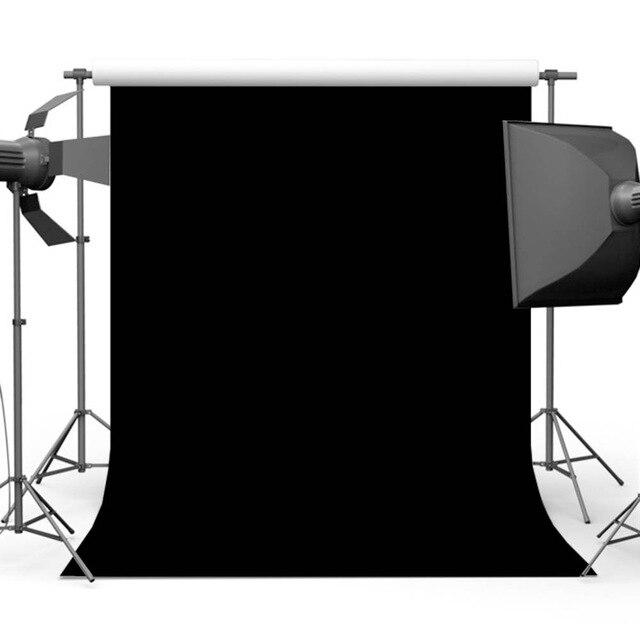 Vinyle Solide Couleur Noir Fond pour La Photographie Portrait Photo Toile de Fond Stand Accessoires Studio