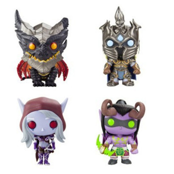 World Warcraft Wow Game Periphery Funko POP Hill Vanasse The Witch King Illidan Sylvanas Arthas Action Toy Figures Jewelry Set