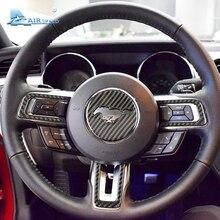 Velocità In Fibra di Carbonio Volante Emblem per Ford Mustang Auto Adesivi Per Auto Auto-Styling 2015 2016 2017 Accessori Auto