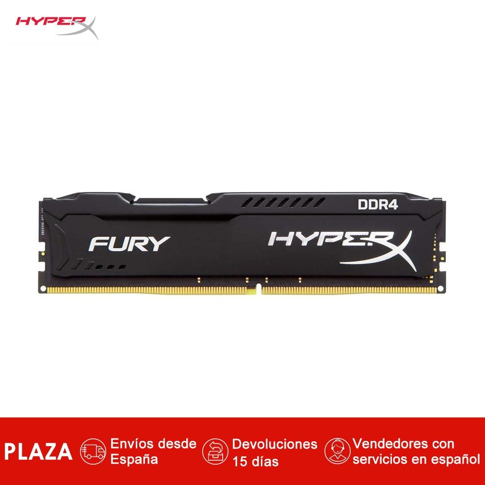 Memoria RAM HyperX FURY (DDR4 de 8 go, 2.400 MHz, 288 broches, DIMM) couleur nègre