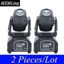 2 Piece Lot 10W CREE RGB Mini Beam Light DMX512 Moving Head Light Professional DJ Bar