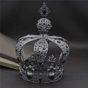 Image 3 - Beliebte Barock Vintage Königlichen König Diadem Prom Party Männlichen Kuchen Party Prom Hochzeit Haar Schmuck Mann Crown Runde