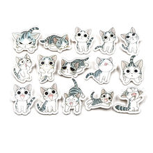 5pcs/lot Y12 Cute Cat Badges for Clothing/Bag/Coat/Sweater Cartoon Icons On Backpack Acrylic Brooch Children Kawaii Pins(China)