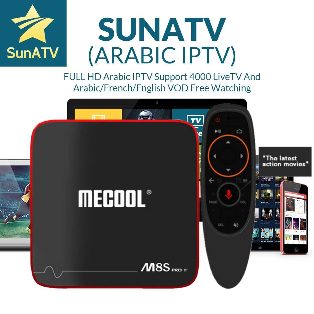 1 Year IPTV SUNATV in M8S PRO W Voice Control System Android 7.1 IPTV Box 2/16G Arabic IPTV French IPTV turkish Netherland Spain1 Year IPTV SUNATV in M8S PRO W Voice Control System Android 7.1 IPTV Box 2/16G Arabic IPTV French IPTV turkish Netherland Spain