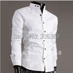 Hot Selling Casual Men's Shirts Fashion Slim Fit Stylish Classic ...