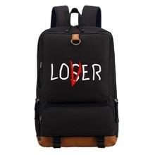 WISHOT Pennywise clown lover loser Backpack Shoulder travel School Bag Bookbag for teenagers men women  Casual Laptop Bags