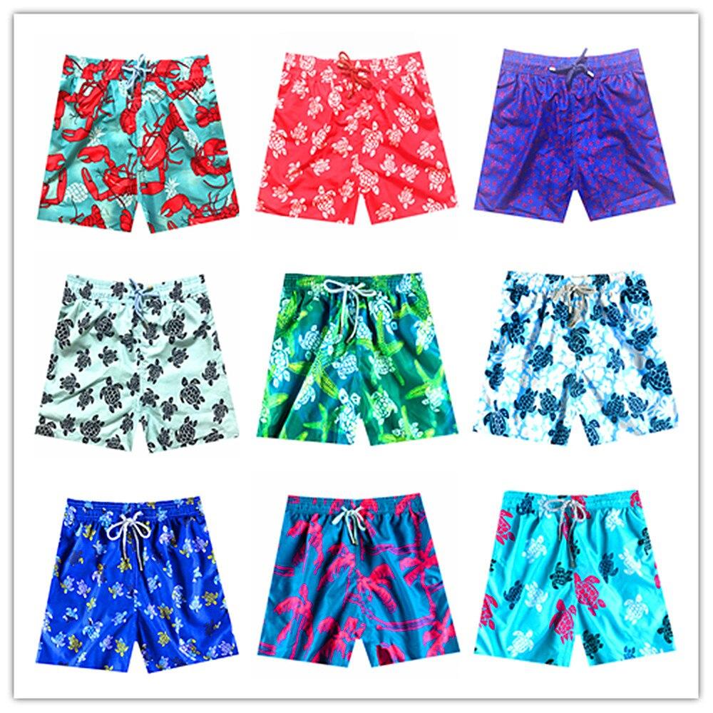 2019 Brand Vile Beach   Board     Shorts   Vilebre Elastic Swimwear Men Bermuda Turtle Masculina Mens Hawaiian   Shorts   Adults Swimtrunks