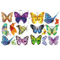 DIY Cute Butterfly PVC Vinyl Wall Decals Wall Mural Wall Stickers Bathroom Home Decoration 42 24cm