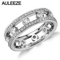 Romantic Wedding Bands For Women Gala Lab Grown Diamond Eternity Ring 14K White Gold M Oissanite