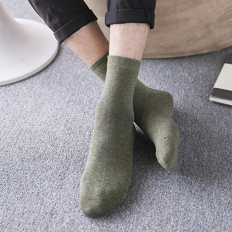 5 pair Autumn Socks Men 100% Cotton High Quality Mens Socks Plain Solid Cheap Socks Dress Business Casual Man Long Socks 2017