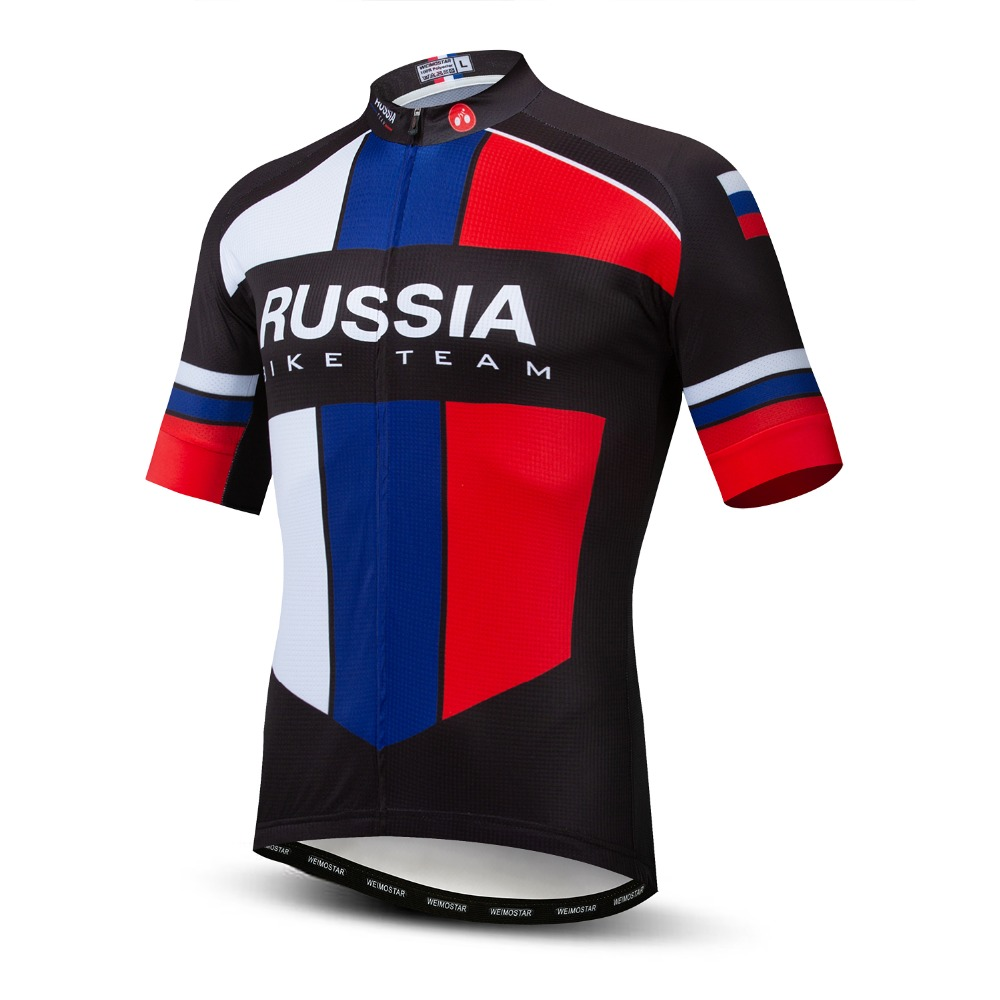Pro Team Russia Men Cycling Jerseys Short Sleeve Summer Bike Wear MTB Clothing Ropa Maillot Ciclismo Shirts Wear Bike Jersey Top