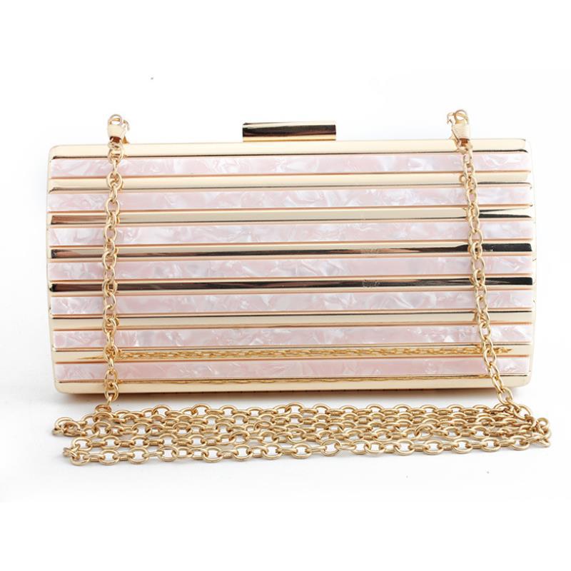 2018 Marbling pattern Day clutch Female Luxury acrylic evening bag party bag clutches chain crossbody Shoulder Bags zd896 bolsa