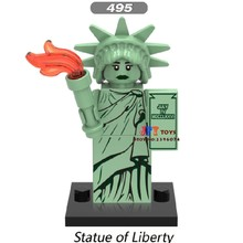 Single Star wars super heroes Statue Of Liberty Inhumans Royal Family building blocks models bricks hobby toys for children kits(China)