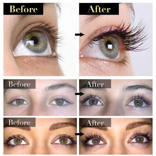 Eye Lashes Growth Eyelash Growth Enhancer Serum Eyebrow Eyelash Growth Treatment Lash Curly Thicker and Longer Makeup Mascara 4