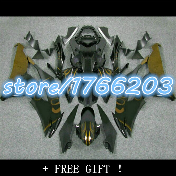 <font><b>Fairing</b></font> kit for YZFR6 08 09 10 11 12 13 14 <font><b>YZF</b></font> <font><b>R6</b></font> <font><b>2008</b></font> 2014 YZF600 Golden/blue black <font><b>Fairings</b></font> <font><b>Set</b></font> Ning image