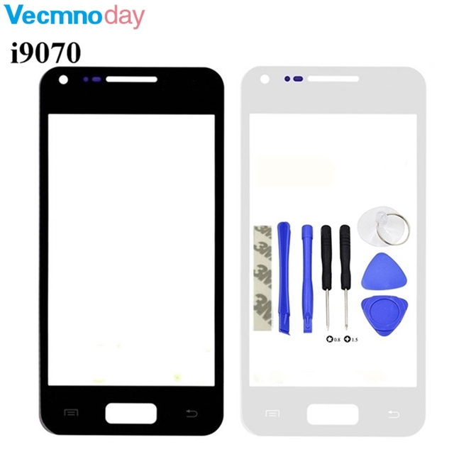 Vecmnoday For Samsung Galaxy S Advance GT-i9070 i9070 Front Outer Screen Glass Lens Repair Touch Screen Outer Glass + Tools