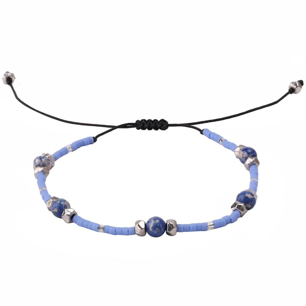 C.QUAN CHI Bracelets Jewelry Bohemia Crystal Seed Beads Friendship Bracelets Adjustable Stone Beaded Bracelets For Women gift