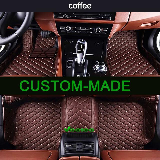 Veeleo 6 Colors Car Floor Mats For BMW 2 Series Wagon 7 Seats 2014 2018