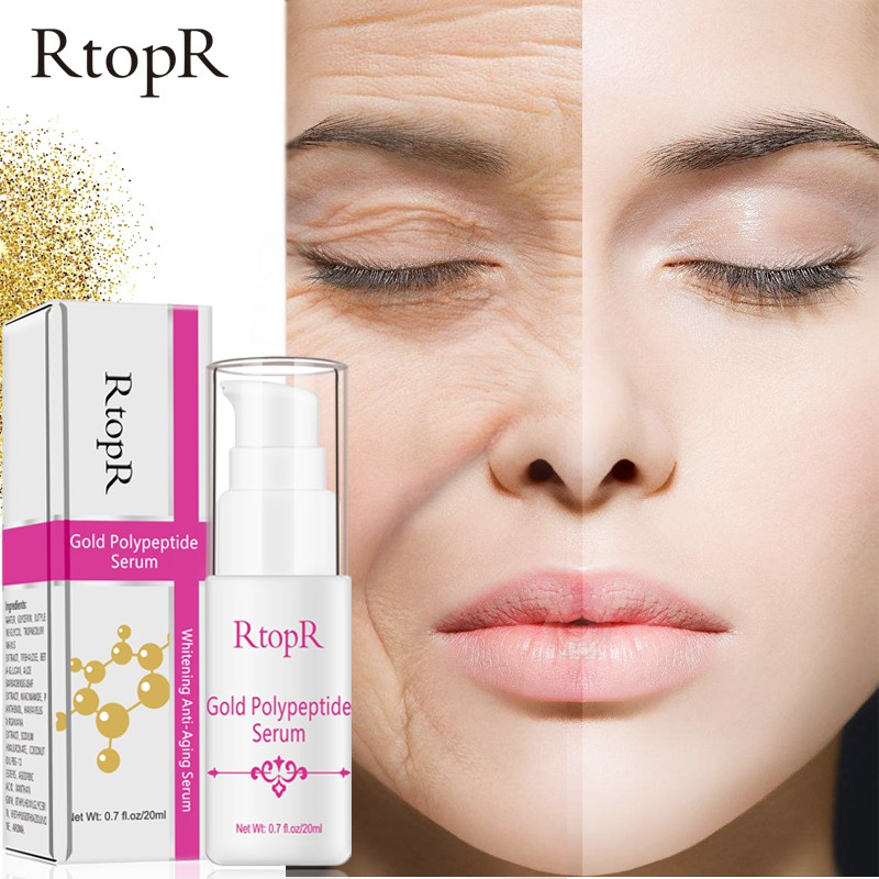 Gold Polypeptide Serum Skin Care Anti-Aging Whitening Makeup Serum Night Cream Face Hydra Moisturizing Lotion T