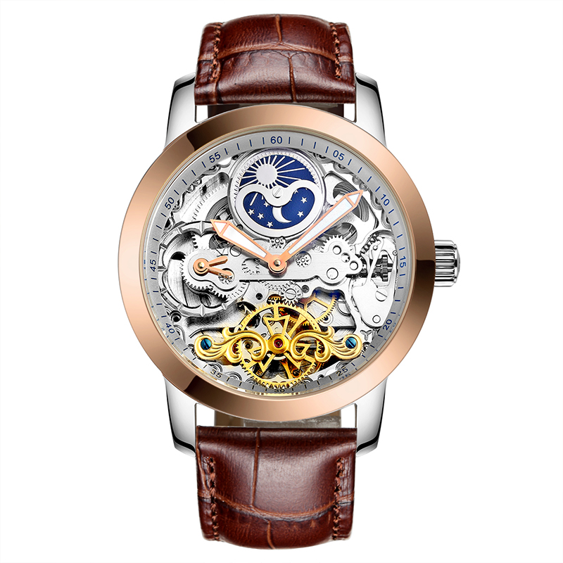 AILANG 6812 Switzerland watches men luxury brand thin hollow automatic mechanical moon phase Tourbillon golden relogio masculino ailang 8221a switzerland watches men luxury brand automatic double tourbillon moon phase hollow business watch relogio masculino