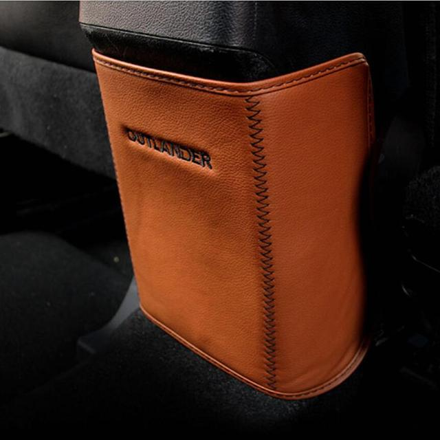 Car-styling Armrest Anti Kick protection mat pad case For Mitsubishi Outlander 2013-2016 Car accessories
