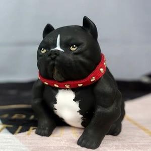 3D американская bully pitbull силиконовая форма пластырь для ароматерапии в форме животного собаки в форме автомобиля Декор свечи ремесла мыло фо...