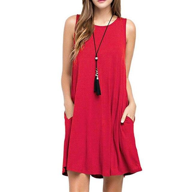 cf190cf9cd9ca US $12.99 |Aliexpress.com : Buy Russian Summer Dress Women Casual Mini Boho  Party Beach Dresses 2018 Leisure Plus Size Loose Waist A Line Sleeveless ...