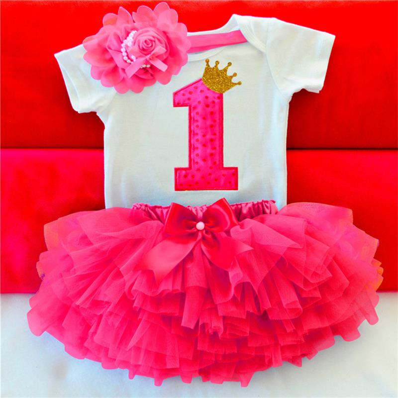 Baby Girl 1 Year Birthday Tutu Dress Toddler