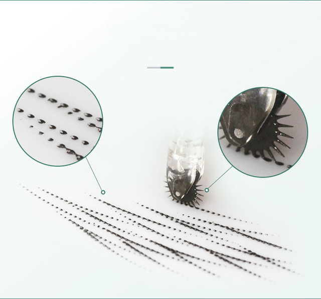 Biomaser Semi Permanent Makeup Disposable Microblading Needle Roller Microblading Blades For Fog Eyebrow Micro Needle Roller 4