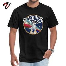 Space Force vintage apparel Men Fashionable Tops T Shirt Round Collar Summer Satan T-shirts Gift Short Gorilla
