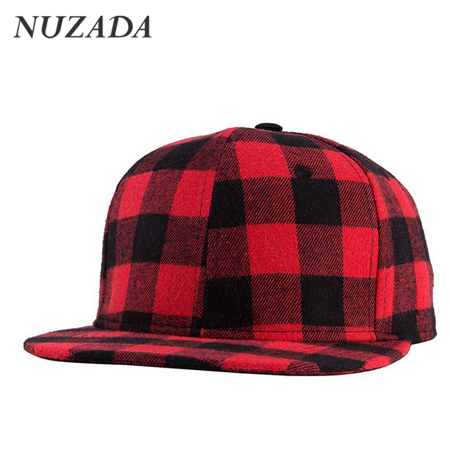 Brands NUZADA Grid Pattern Sports Cotton Baseball Cap Leisure Classic Men Women Sports Hat Hats Hip Hop Snapback Caps jt-086
