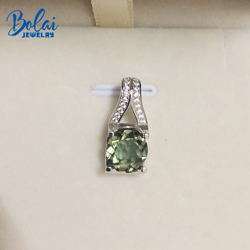 Bolai color change zultanit nano diaspore pendant necklace 925 sterling silver sultanit gemstone fine jewelry for women gift in Pendants from Jewelry Accessories