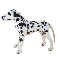 lovely simulaiton plush spots dog toy standing Dalmatian doll gift about 45x40cm