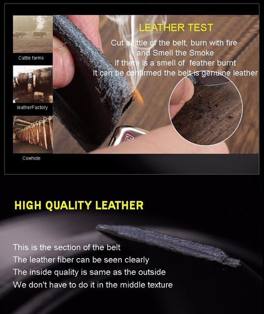 2017 men's fashion100% Genuine Leather belts for men High quality metal automatic buckle Strap male Jeans cowboy free shipping
