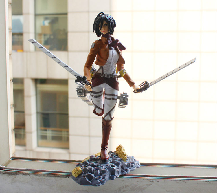 Attack on Titan figure Mikasa Ackerman Shingeki no Kyojin 21cm Japanese Anime Model Collection Toy free shipping  недорого
