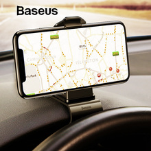 Baseus приборная панель для автомобиля держатель телефона Универсальный кронштейн держатель телефона клип gps держатель для мобильного телефона держатель для телефона в автомобиль