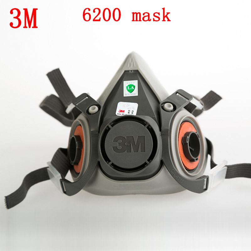 3M 6200 Anti-virus dust respirator mask Genuine Universal variety filter Main mask particulates paint Toxic gas half ski mask