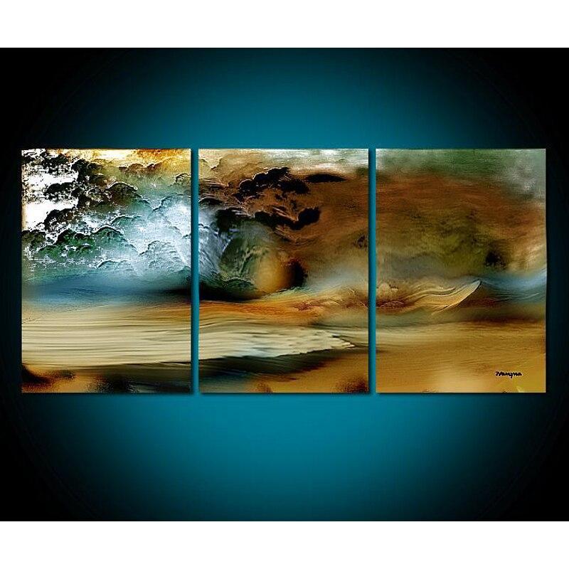 3 panneau plage peinture toile mur Art photo décoration de la maison salon toile peinture-grande toile Art non encadré peinture à la main