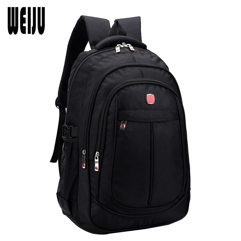 WEIJU 2017 New Waterproof Business Backpack Men Fashion Casual Nylon Large Capacity Backpacks Travel Bags Size 45*32*19cm YA0448 new men s pu leather solid business backpack fashion casual travel high capacity