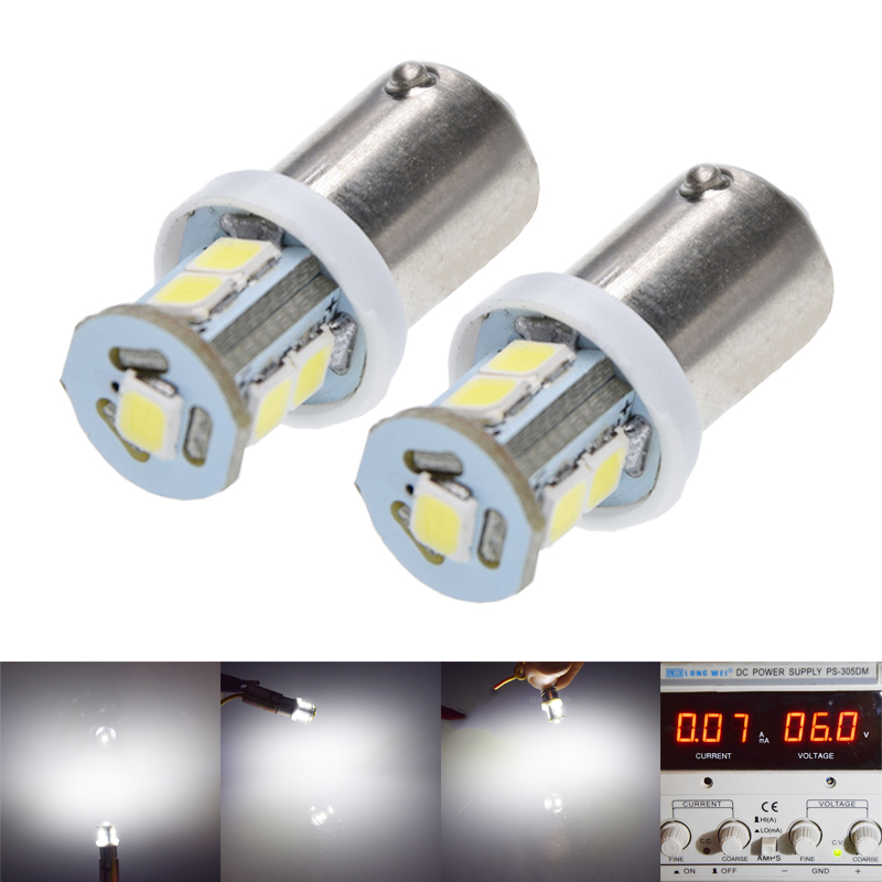 2/4 Pcs BA9S T11 T4W Bayonet 7 SMD 2835 LED White 6000K Warm White 4300K Car Motor Instrument Panel Dash Gauge Light Bulbs 6V DC-in Signal Lamp from Automobiles & Motorcycles