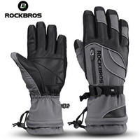 ROCKBROS Cycling Gloves Thermal Waterproof Windproof Skiing Snowboard For 30 Degree Motorcycle Riding Hiking Bike Winter