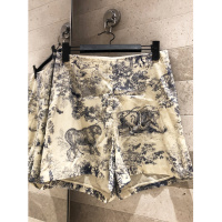 2019 summer ladies shorts high end quality animal print was thin high waist casual cotton shorts