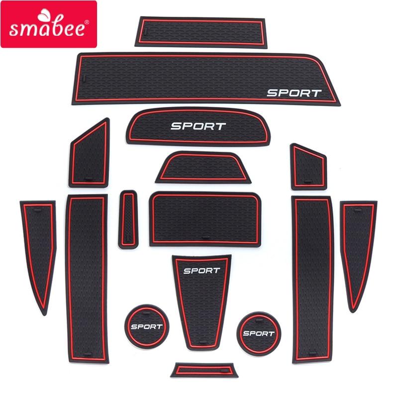 smabee Car Gate slot pad Grte  for For Lada GRANTA SPORT Door Groove Mat Non-slip Mats Interior Door Pad Cup 16pcs