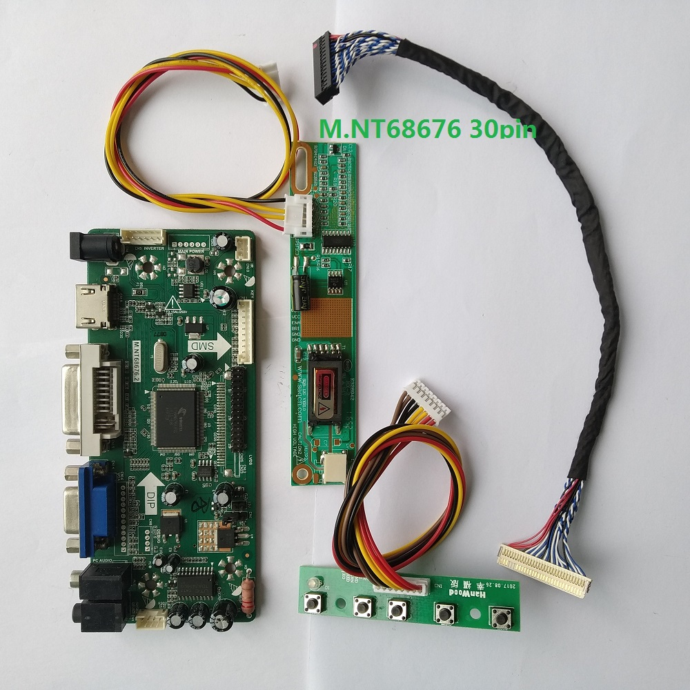 For B141XN04 V2 Monitor Kit 1024X768 Controller Board 20pin LVDS 1 Lamps LCD DVI 14.1